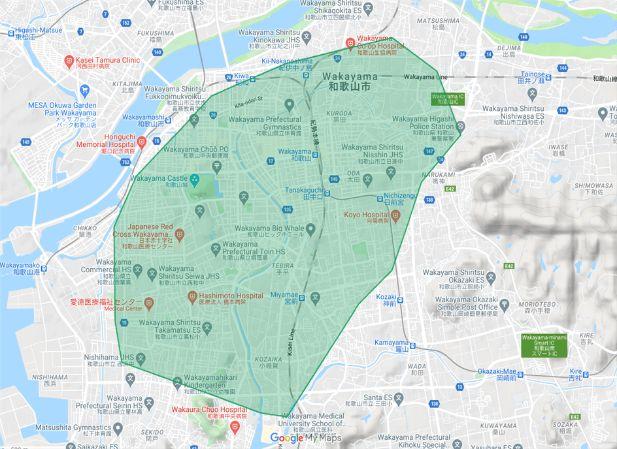 Uber Eats(ウーバーイーツ)和歌山県和歌山市の画像