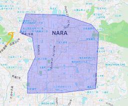 ウーバーイーツ奈良県奈良市の画像