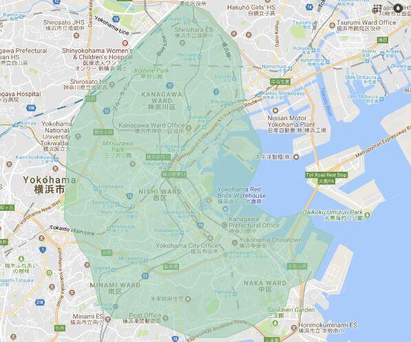 ウーバーイーツ横浜市の画像