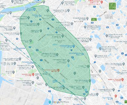 Uber Eats(ウーバーイーツ)加古川市のエリア